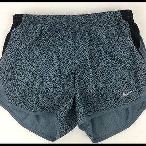 Teal Nike running shorts good condition.